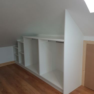 Angled Sloped Ceiling Fitted Wardrobe Interiors