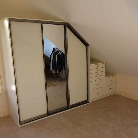 3 - Attic-Sloped-Ceiling-Fitted-Wardrobe-Silver-Mirror